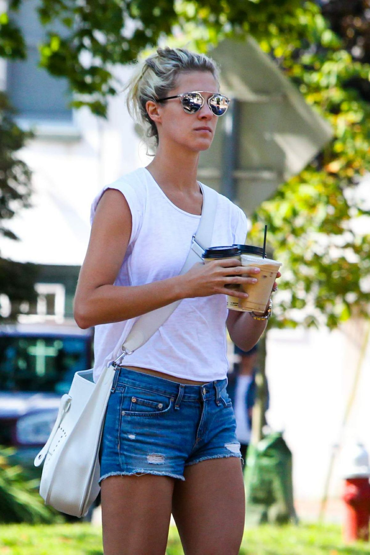 NICKY HILTON Out for Coffee in Hamptons 09/04/2016