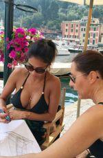 NICOLE SCHERZINGER in Bikini Top on Holiday in Portofino 09/12/2016