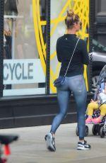 NINA AGDAL Leaves Soul Cycle in New York 09/14/2016