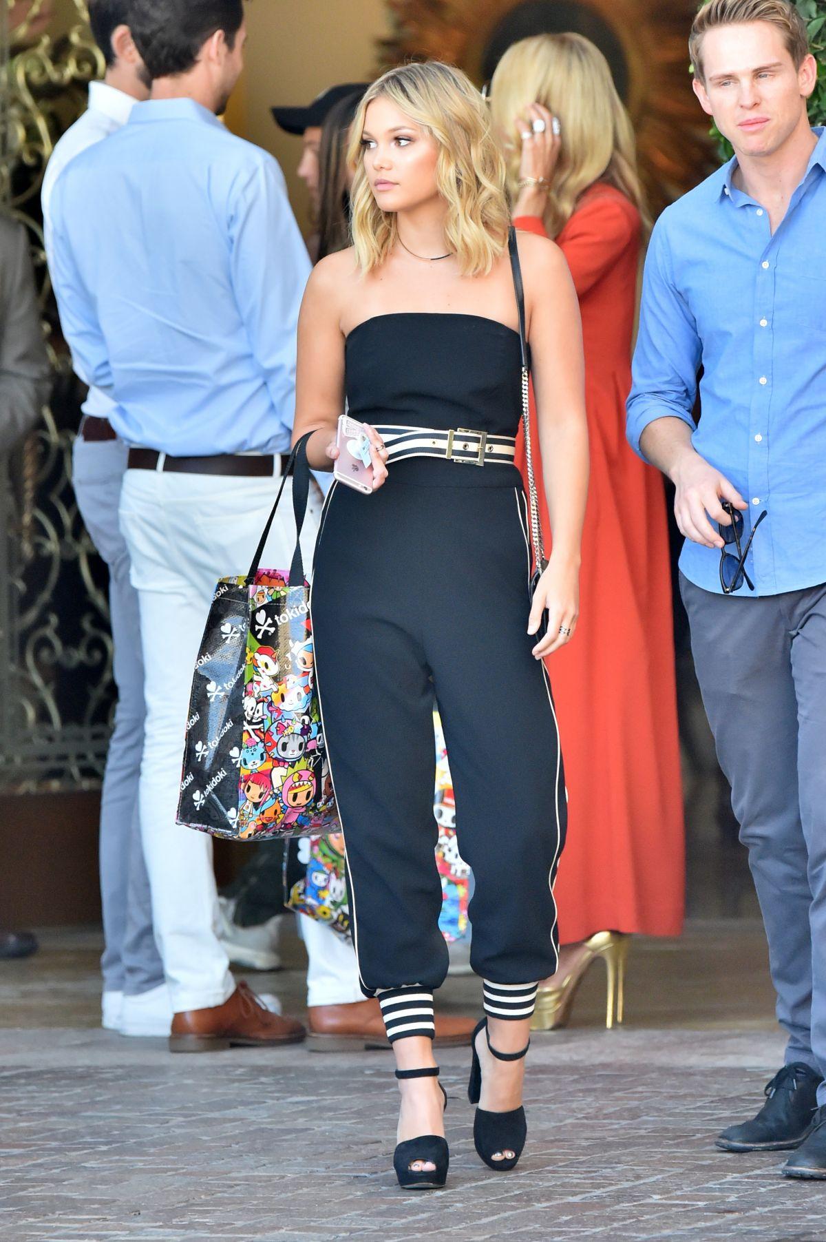 OLIVIA HOLT Leaves Her Hotel in Beverly Hills 09/28/2016