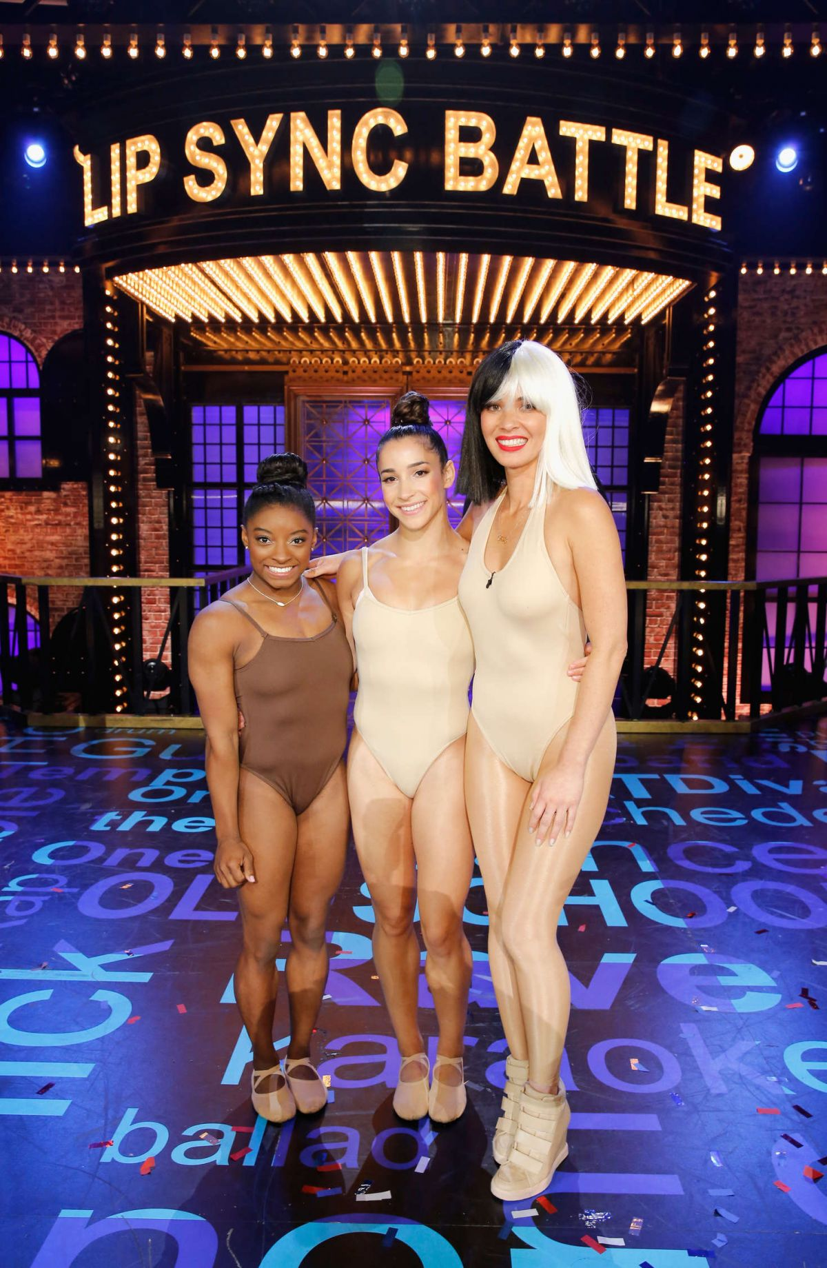 OLIVIA MUNN, ALY RAISMAN and SIMONE BILES at Lip Sync Battle All Stars Live 09/16/2016