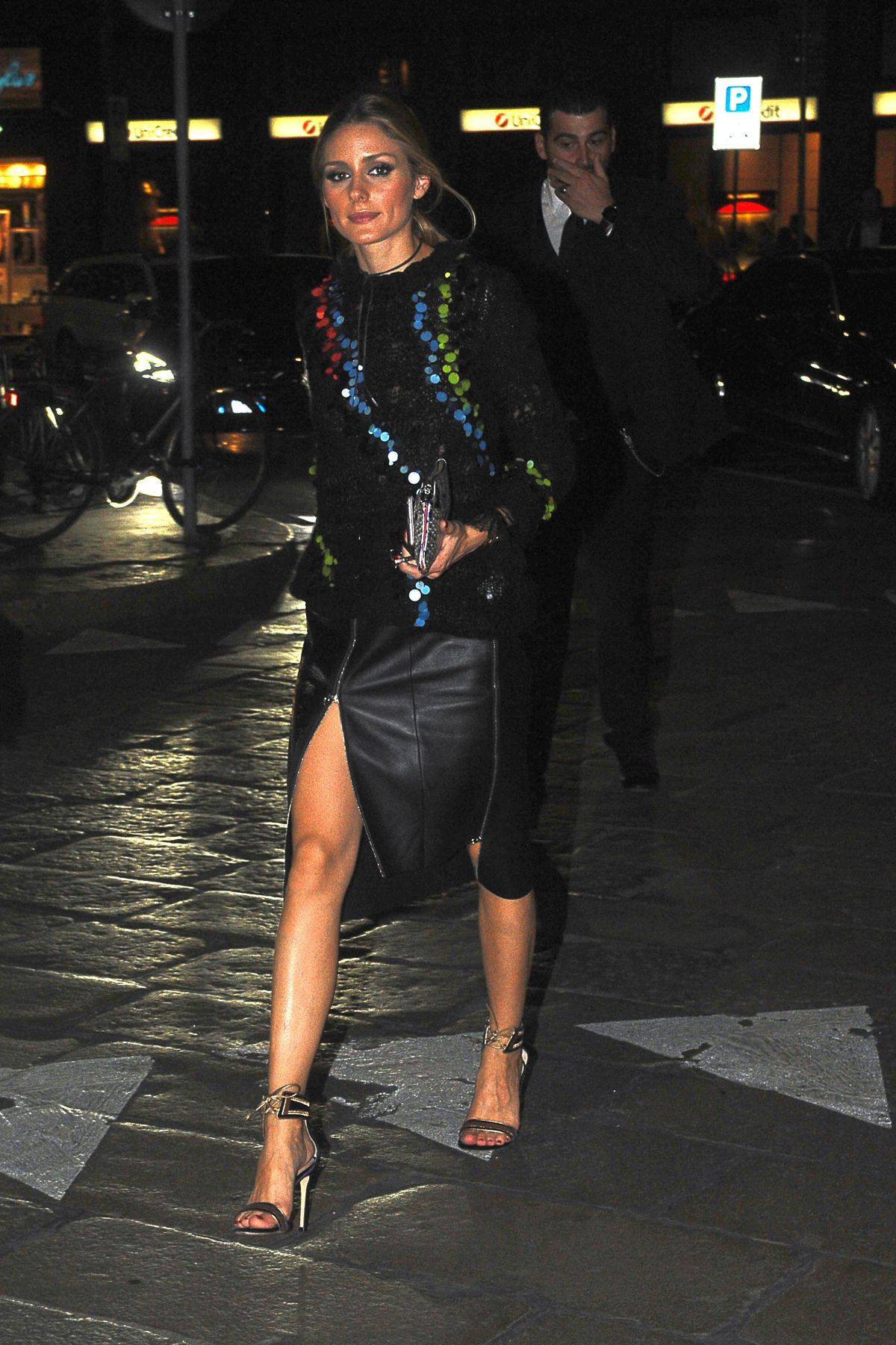 OLIVIA PALERMO Night Out in Milan 09/23/2016