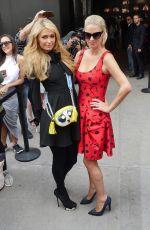 PARIS and NICKY HILTON at Carolina Herrera Fashion Show in New York 09/11/2016