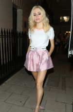 PIXIE LOTT in Short Skirt Leaves Haymarket Theatre in London 09/14/2016
