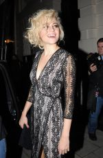 PIXIE LOTT Leaving Hayemarket Theatre in London 09/12/2016
