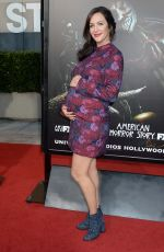 Pregnant KATE SIEGEL at Halloween Horror Nights Opening in Universal City 09/16/2016