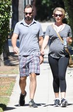 Pregnant KATHERINE HEIGL and Josh Kelley Out in Los Angeles 09/24/2016