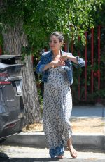 Pregnant MILA KUNIS Out and About in Los Angeles 09/02/2016