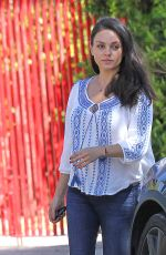 Pregnant MILA KUNIS Out and About in Los Angeles 09/23/2016