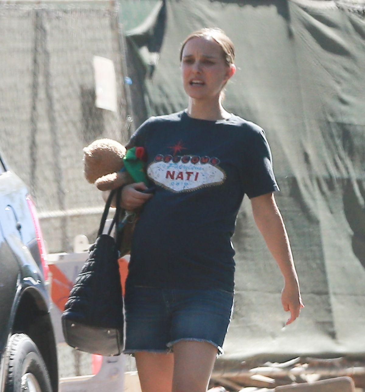 Pregnant NATALIE PORTMAN Out in Silver Lake 09/24/2016