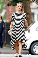 Pregnant OLIVIA WILDE Out and About in New York 09/20/2016