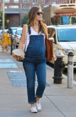 Pregnant OLIVIA WILDE Out and About in New York 09/23/2016