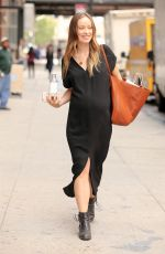Pregnant OLIVIA WILDE Out in New York 09/27/2016