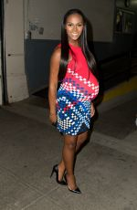 Pregnant TIKA SUMPTER at AOL Build Studios in New York 08/25/2016