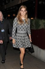 PRINCESS BEATRICE at Love Magazine Party at Lou Lou's in Mayfair 09/19/2016
