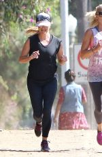 REESE WITHERSPOON Out Jogging in Brentwood 09/06/2016