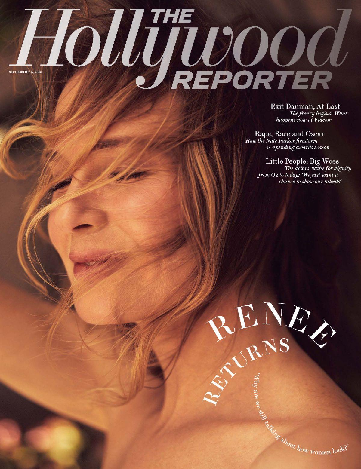 RENEE ZELLWEGER in The Hollywood Reporter, September 2016