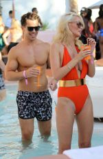 RHIAN SUGDEN Celebrates Her Birthday at a Pool Party in Ibiza 09/11/2016