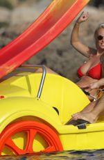 RHIAN SUGDEN in Bikini at a Beach in Ibiza 09/10/2016