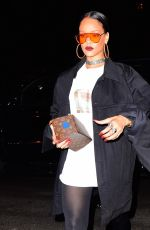 RIHANNA Arrives at Global Citizen After Party in New York 09/24/2016