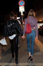 ROMEE STRIJD and TAYLOR HILL Night Out in Milan 09/24/2016
