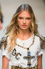 ROMEE STRIJD on the Runway at Dolce & Gabbana Fashion Show at Milan Fashion Week 09/25/2016