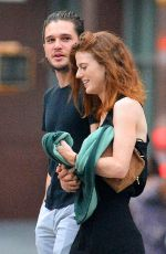 ROSE LESLIE and Kit Harington Out in New York 09/01/2016