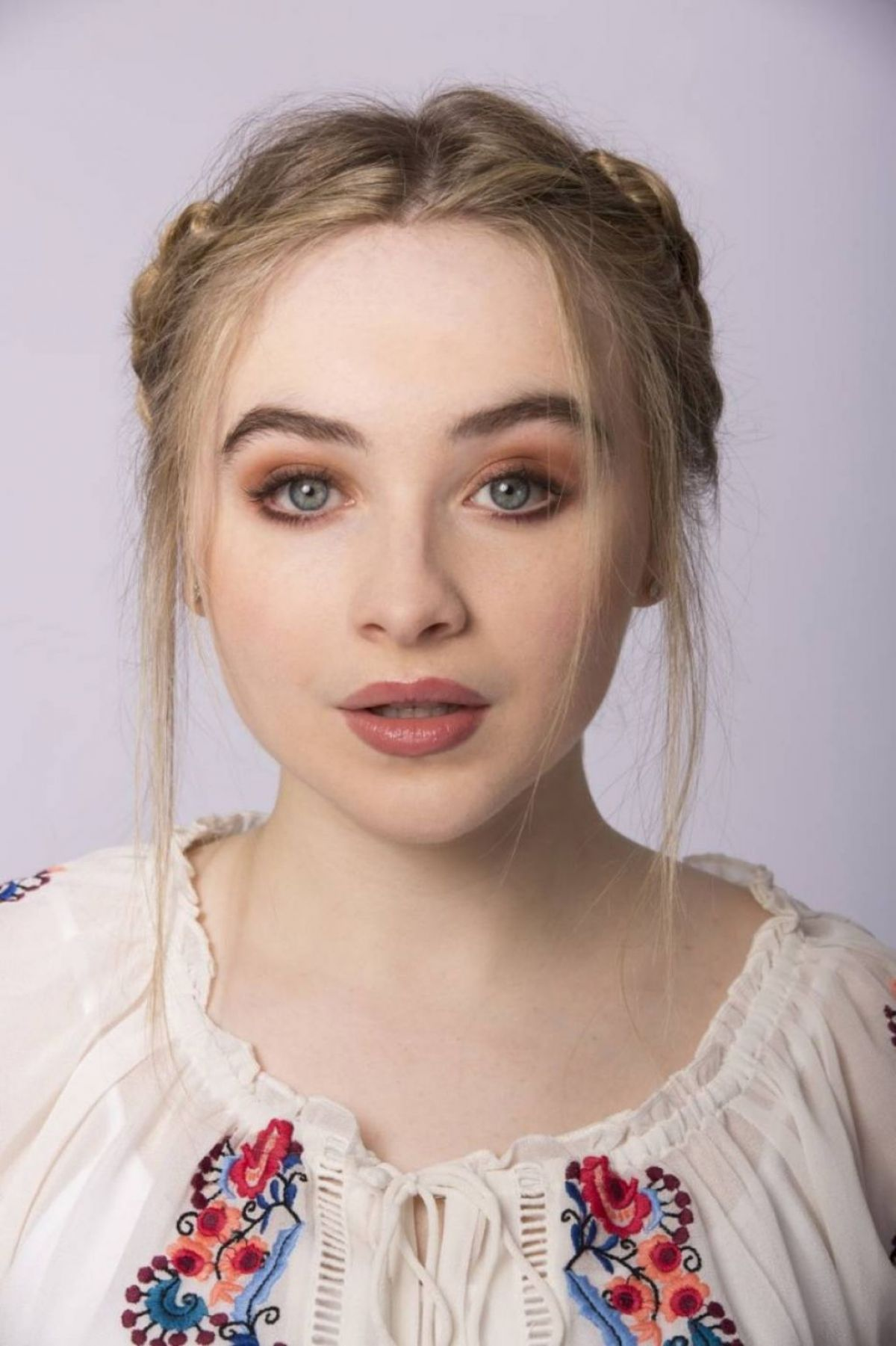 SABRINA CARPENTER on the Set of a Photoshoot, September 2016