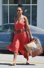 SANAA LATHAN Out and About in Beverly Hills 08/31/2016