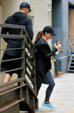 SANDRA BULLOCK Leaves Body by Simone in New York 09/06/2016