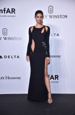 SARA SAMPAIO at Amfar Gala at Museo Della Permanente in Milan 09/24/2016
