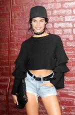 SARA SAMPAIO Leaves Marc Jacobs Fashion Show in New York 09/16/2016