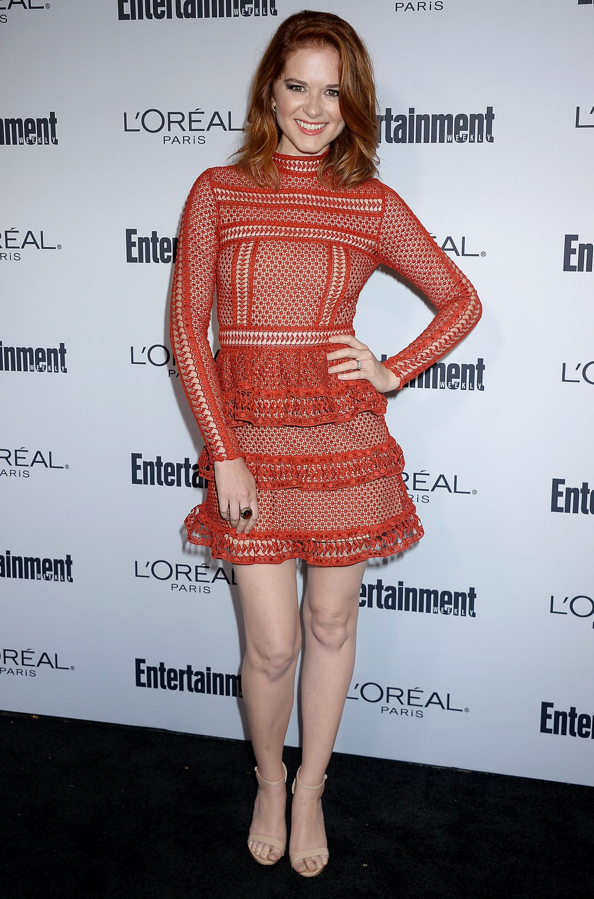 SARAH DREW at Entertainment Weekly 2016 Pre-emmy Party in Los Angeles 09/16/2016