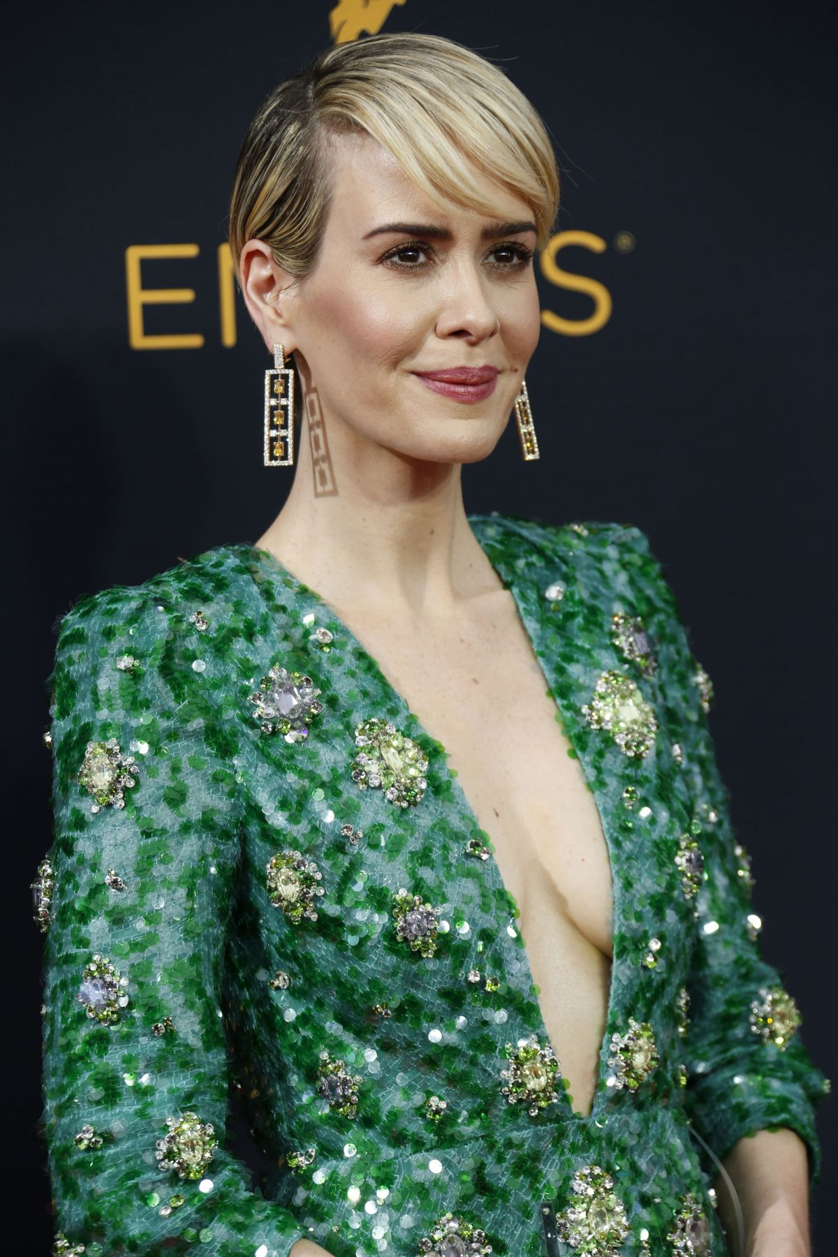 SARAH PAULSON at 68th Annual Primetime Emmy Awards in Los Angeles 09/18/2016