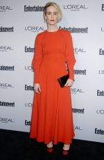 SARAH PAULSON at Entertainment Weekly 2016 Pre-emmy Party in Los Angeles 09/16/2016
