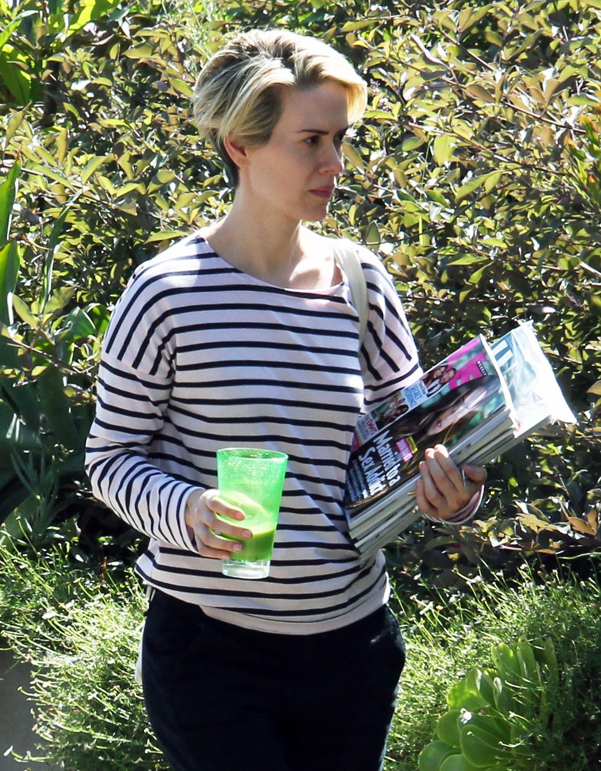 SARAH PAULSON Out and About in Los Angeles 09/23/2016