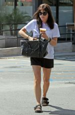 SELMA BLAIR Out for Coffee in West Hollywood 09/19/2016