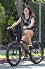 SELMA BLAIR Riding a Bike Out in Los Angeles 09/05/2016
