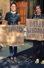 SHAILENE WOODLEY Protests Against Dakota Access Pipeline in New York 09/13/2016