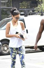 SHANINA SHAIK at a Gym in New York 08/31/2016