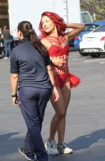 SHARNA BURGESS on the Set of DWTS Season 23 Promos in Los Angeles 08/29/2016