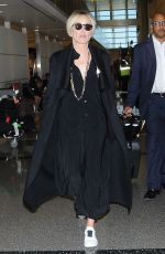 SHARON STONE at Los Angeles International Airport 09/02/2016