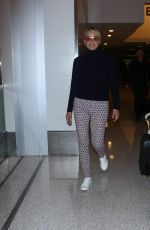 SHARON STONE at Los Angeles International Airport 09/11/2016