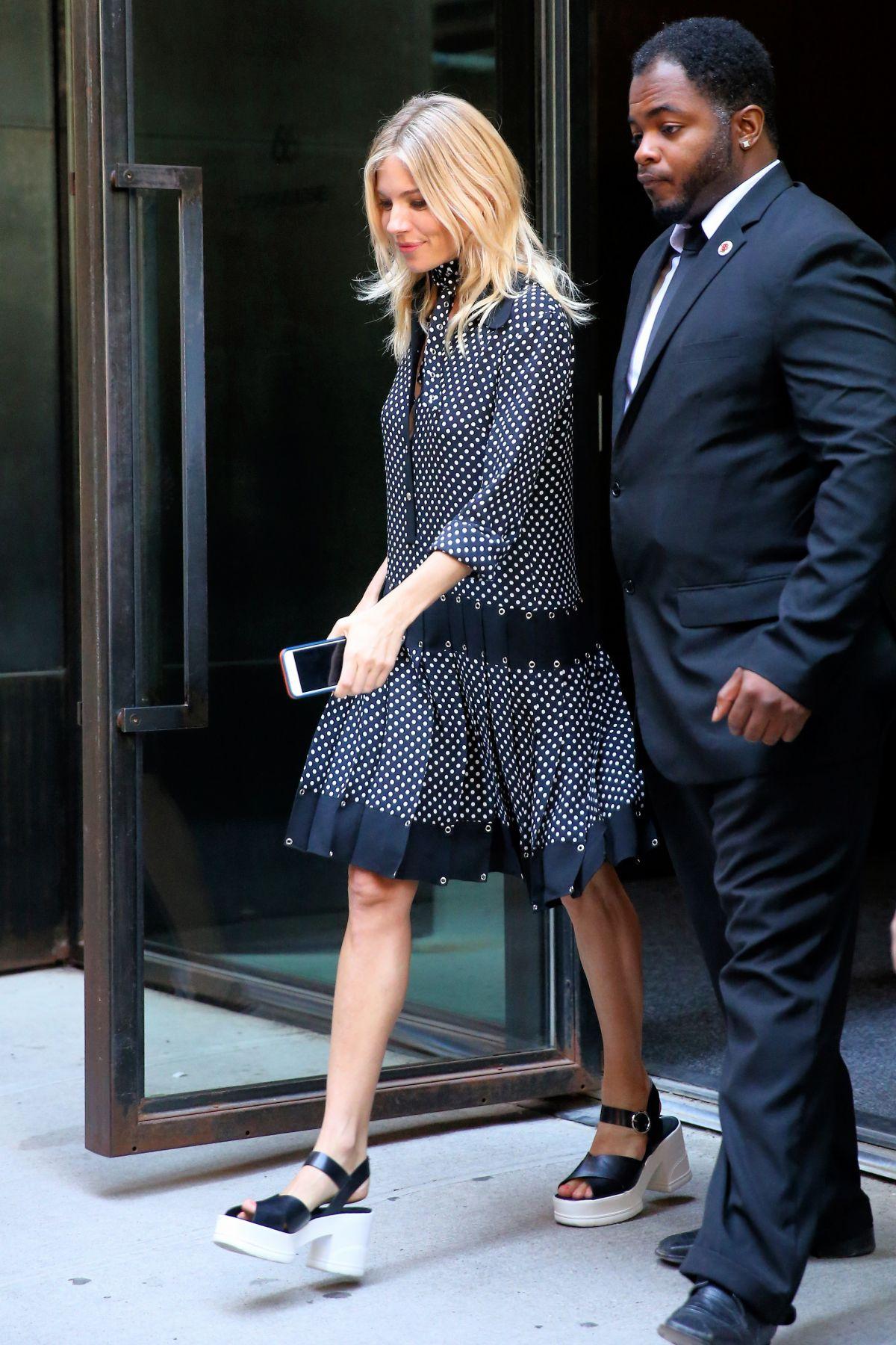 SIENNA MILLER at Michael Kors Fashion Show at New York Fashion Week 09/14/2016