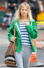 SIENNA MILLER Out and About in Soho 09/27/2016