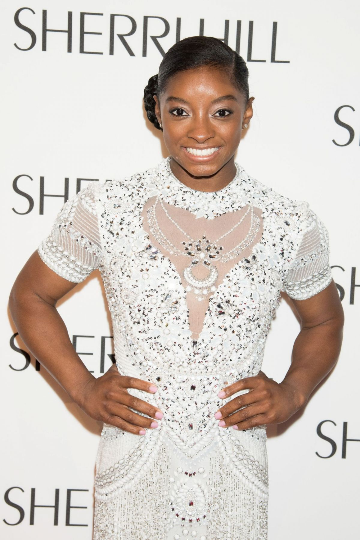 SIMONE BILES at Sherri Hill Fashion Show at New York Fashion Week 09/12/2016