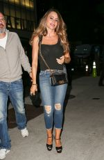 SOFIA VERGARA in Ripped Jeans Arrives at Her Hotel in New York 09/21/2016