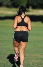 SOPHIE KASAEI Working Out at a Park in London 09/12/2016