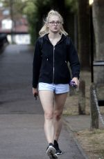 SOPHIE TURNER Out and About in London 08/26/2016