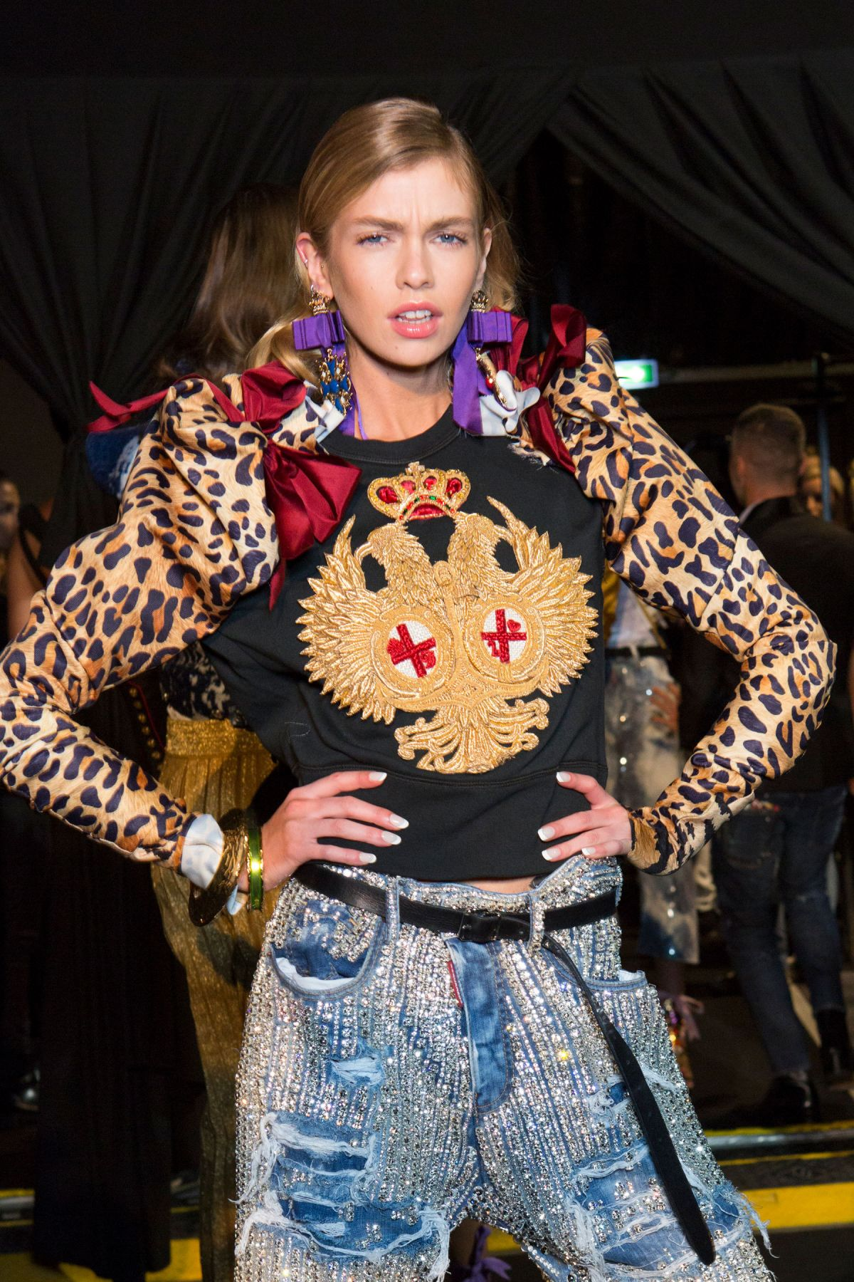 STELLA MAXWELL at Dsquared2 Spring/Summer 2017 Fashion Show at Milan Fashion Week